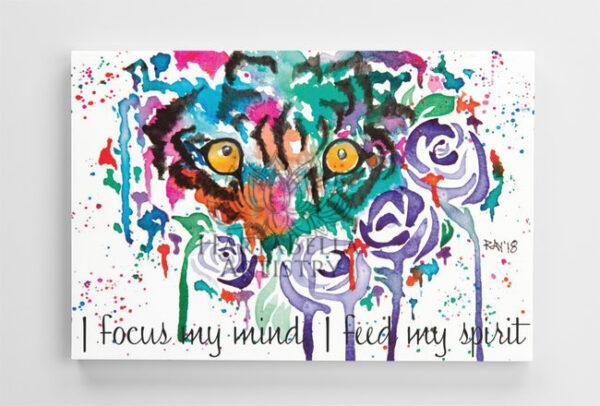 Premium Print Canvas size 24inch X 36inch. - Tiger Eyes